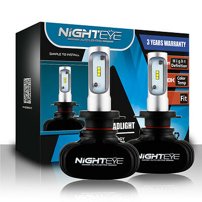 NIGHTEYE 8000LM H7 LED Headlight Kit Bulbs Replace HID Halogen White Plug&Play