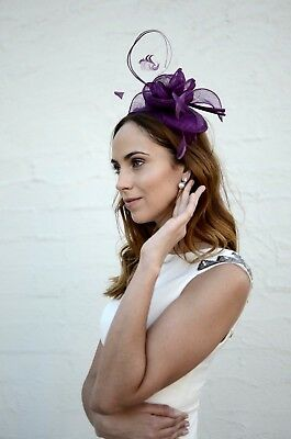 Rosette Flower Fascinator With Quills