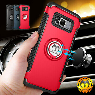 For Samsung Galaxy S9/S8 Plus/Note 8 9 Shockproof Ring Rugged TPU Case Cover