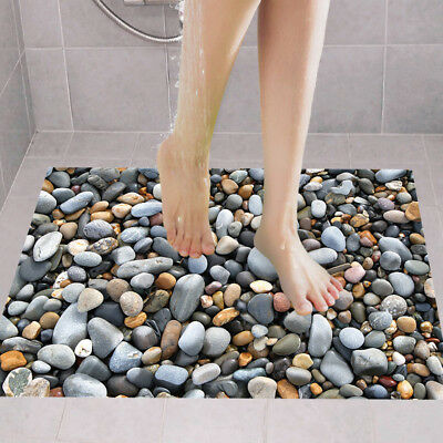 Labels On Floor Poster Wall Pebbles Anti-skid Floor Stickers 3D Home Decoration
