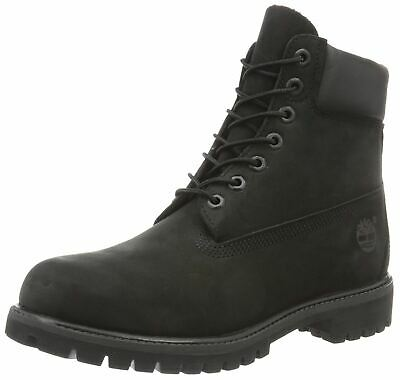 TIMBERLAND 6 INCH Premium Black Black Mens Leather Boots