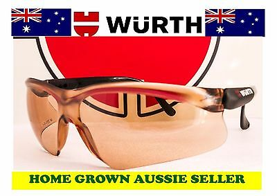 Wurth Premium Safety Glasses With Uv Protection - Copper.free Postage
