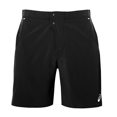 Asics Mens Woven 7 Inch Tennis Shorts - NEW - Black *Sizes S - XL*