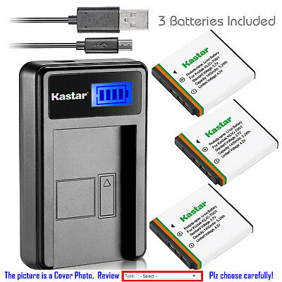 Kastar Battery LCD Charger for Kodak KLIC-7001 EasyShare MD1063 EasyShare MD853