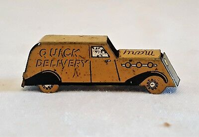 Tin Litho Cracker Jack Delivery Truck Prize/Premium MARY LU QUICK DELIVERY 30's