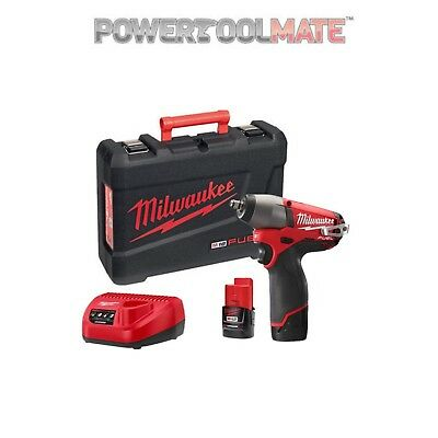 Milwaukee M12CIW38-202C 12v Fuel 3/8in Impact Wrench 2 x 2.0Ah Li-ion Kit