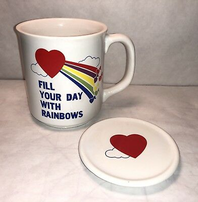 Giftco Vintage Fill Your Day With Raindows Mug with Lid