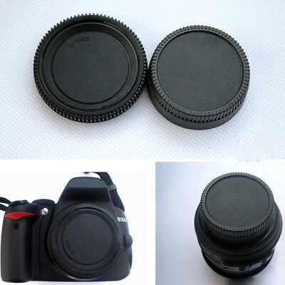 Rear Lens Cover+Camera Body Cap For All Nikon AF AF-S DSLR SLR Lens Dust Camera