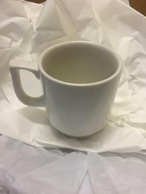 24 x White Stacking Cup Mug 10oz Cups Mugs Professional Hotelware BS4034 Joblot