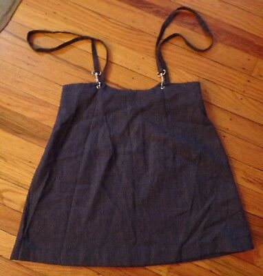 Vintage Mirrors Gray Skirt with Straps and Back Zipper Size 3 Made in USA