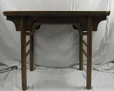 "Antique Chinese Elm Wood Table Desk 30""H"