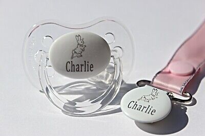 Personalised Dummy *Cherry Teat & Avent Style Available* Dummy Clip