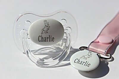 Personalised Soother *Cherry Teat & Avent Style Available* Soother Clip