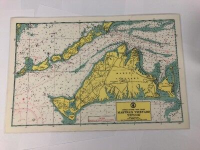 Maritime Nautical Sea Map of Martha's Vineyard US Dept. Of Commerce