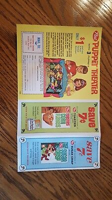Vintage  Post Cereal Coupon  Puppet Show offer