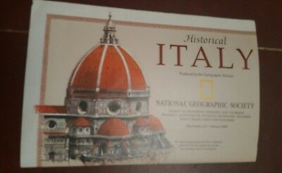 National Geographic Mag -supplement map historical italy   - free post