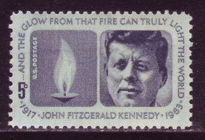 #1246 John F. Kennedy. Wholesale Lot Of (10) Mint Singles. F-Vf Never Hinged!