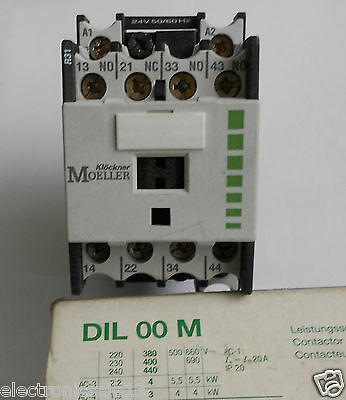 Moeller Contactor / Relay 24V 50/60Hz Part No. Dilr31