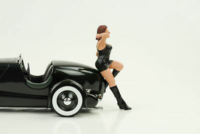 70`s Cool Girl Figurine Figurines Hot Rod Racing 1:18 AMERICAN DIORAMA I NO CAR
