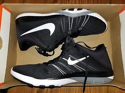 d758866bd960 NIKE FREE TR 6 Women Shoes Black White Cool Grey 833413 001 Size 10 ...