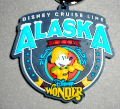 NWT, Disney Cruise Line Alaska 2015 Key Ring Chain Feat Mickey Mouse Fast Ship!