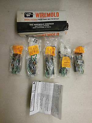 (5 pack) NEW Wiremold 2127G3 15A 125V Black Grounding Receptacle Made in USA