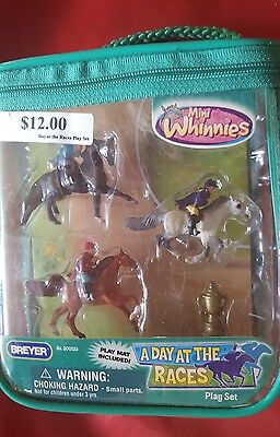 Brand New Breyer Package Of Mini Whinnies A Day At The Races Collection