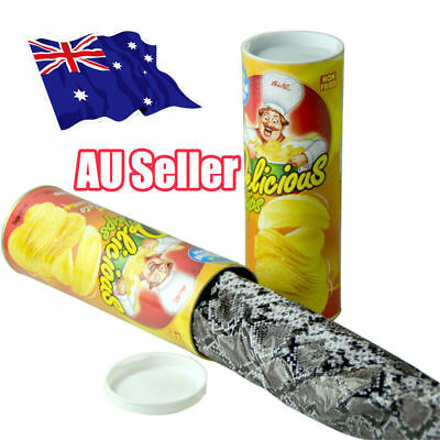 Trick Playing Potato Chips Toy Simulation Snake In A Can Gag Gift Prank Raki NW