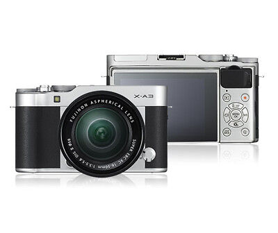 Fujifilm X-A3 Mirrorless Digital Camera Kit with 16-50mm Lens Silver PX