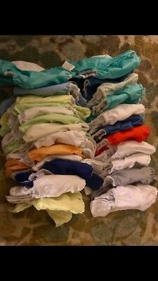 Lot of OS One Size Adjustable Pocket Cloth Diapers w/ Inserts Various Brands