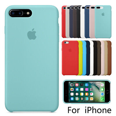 Luxury Original Silicone Case For Apple iPhone X 8 7 6s 6 Plus Genuine OEM Cover