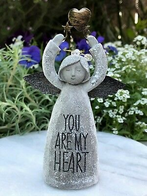 Miniature FAIRY GARDEN Figurine ~ Mini Sentiment Angel ~ YOU ARE MY HEART
