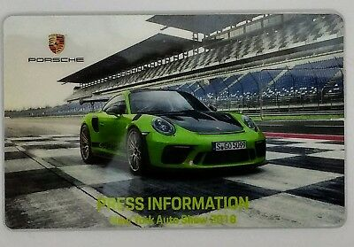 2018 Porsche USB Drive Press Kit feat. 911 GT3RS Weissach Package