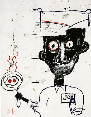 Quadro Stampa Su Tela Jean Michel Basquiat Eyes And Eggs 80X60 Riproduzione Arre