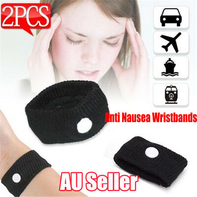 2x Anti Nausea Wristbands Travel Sick Bands Motion Sea Plane Car Sickness  NW