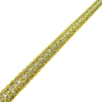 Metallic Gold Yellow Soft Furnishing Braid Trim 1.5 Mm Lip Cord Piping 1 Yard