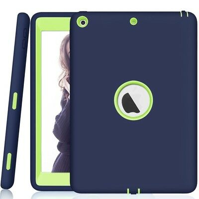 For 2018 iPad 6th Generation Slim Shockproof Silicone Rubber Hard Case Cover