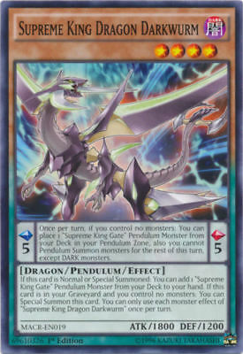 3X Supreme King Dragon Darkwurm - MACR-EN019 - Common- FREE SHIPPING