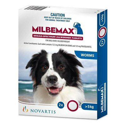 Milbemax Large Dog (Over 5kg) - 2 tabs