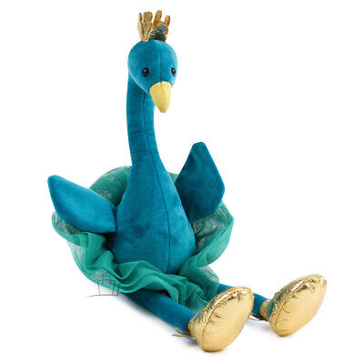 NEW Jellycat Fancy Peacock 34cm Plush Toy Mesh Tutu Gold Slippers Crown Kids