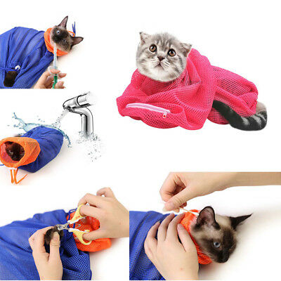 Hot Cat Bath Bag No Scratch Bite for Bathing Nail Trimming Injecting Examing