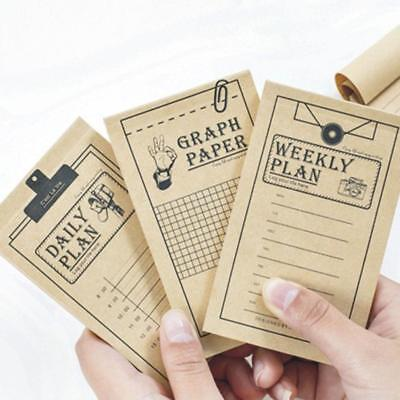 Kraft Paper Memo To Do List Weekly Planner Daily Planner Notes Memo Pads Nice