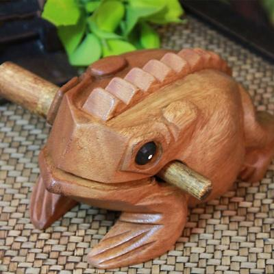 Wood Frog Rasp Percussion Musical Instrument Tone Block + Stick Supplies