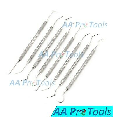 Professional Dental 8 Pieces Scalers Probe Pick Set Stainless Steel