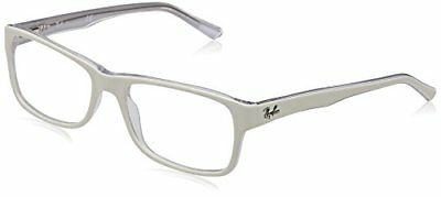 Ray-Ban 5268, Montature Unisex Adulto, Bianca (White), 50 (f6W)