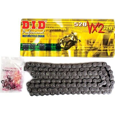 Did Heavy Duty X-Ring Motorcycle Drive Chain 520 Vx2 110 Links  D.i.d.