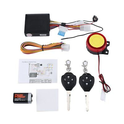 125dB Motorcycle Anti-theft Security Alarm System Double Remote Control Z