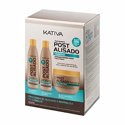 Kativa Tech Kativa Post Relaxer Kit X 3 Pack Shampoo  Conditioner X 250 Ml 250