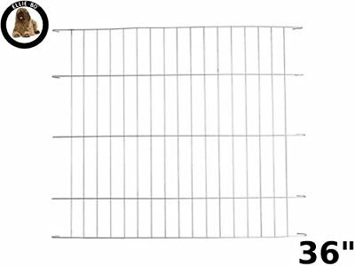 Ellie-Bo Silver Divider for 36 inch Large Dog Crate Cage