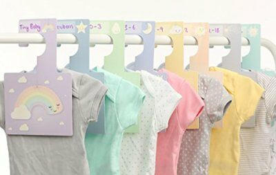 Customisable Sweet Dreams Wardrobe Dividers  Pack of 8 Hangers to Organise Clot
